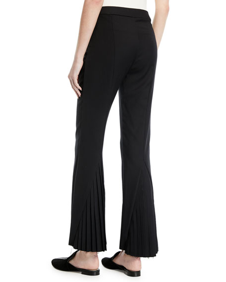 Kick Up Your Heels Pleated Flare-Leg Pants