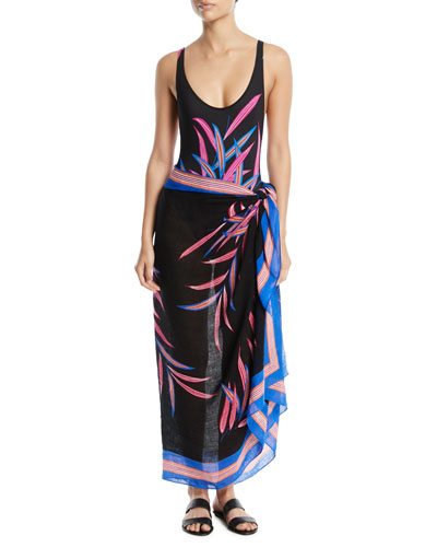 Quincy Printed Pareo Coverup