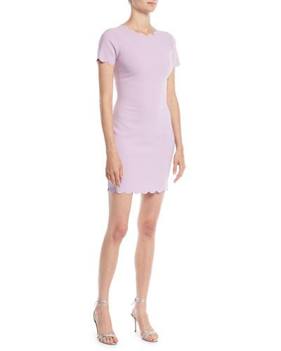 Manhattan Scalloped Sheath Dress