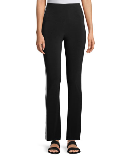 High-Rise Side-Stripe Boot-Cut Pants