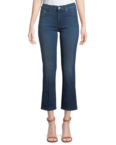 The Outsider Cropped Flare-Leg Jeans