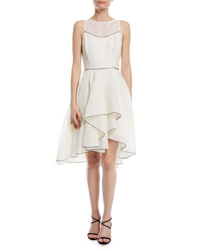 Sleeveless Cocktail Dress w/ Dramatic Skirt