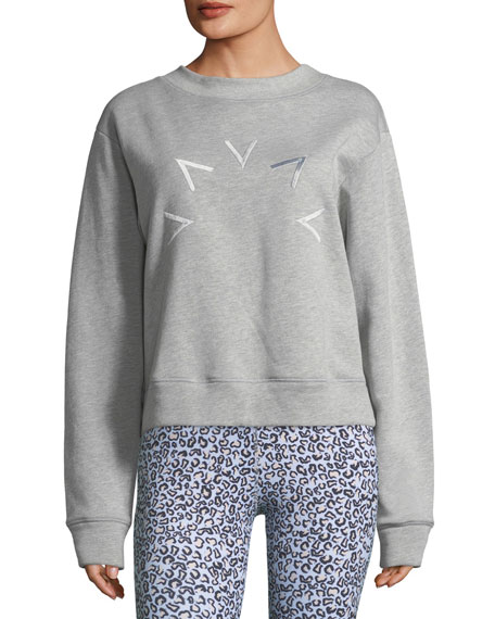 VARLEY Holborn Embroidered Sweatshirt in White