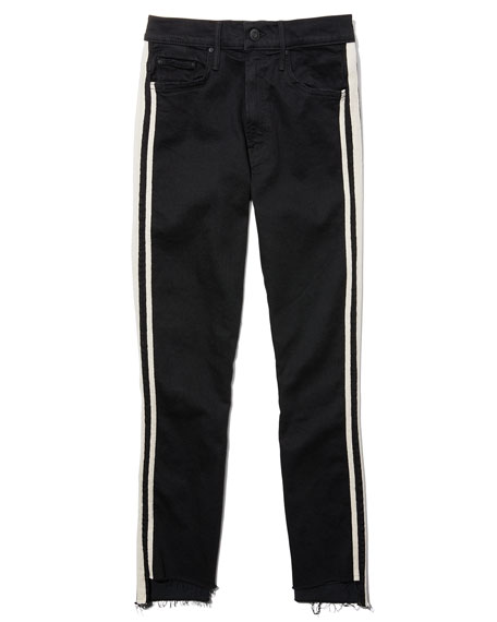Insider Crop Step Fray Striped Jeans