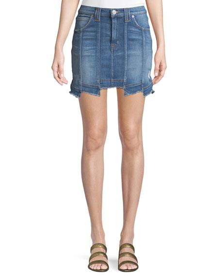 Weekender Step-Hem Denim Skirt