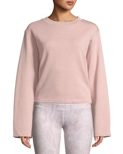 Weymouth Tie-Back Cotton Sweatshirt