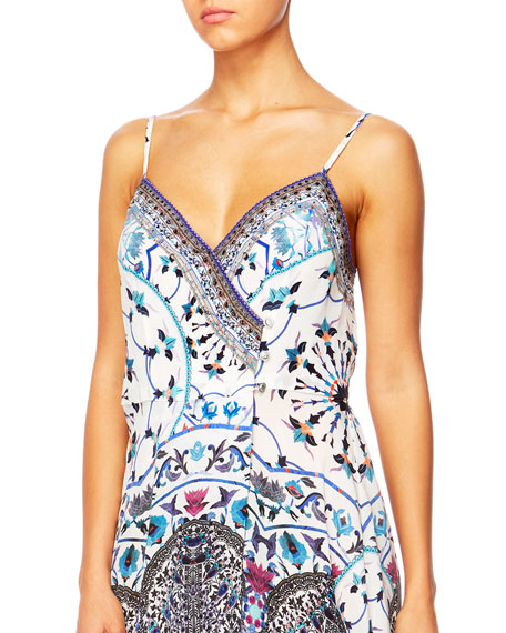 In The Constellations Cross Overlay Maxi Dress