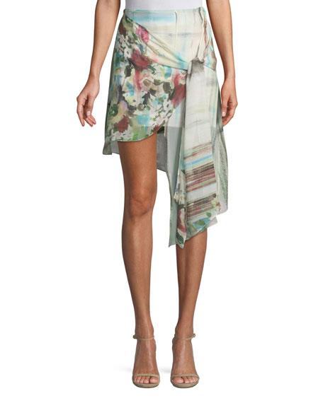 c7cae063011eb Haute Hippie French Riviera Printed Wrap Mini Skirt