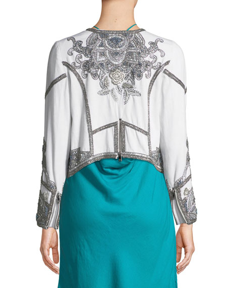 Soleil Embellished Moto Jacket