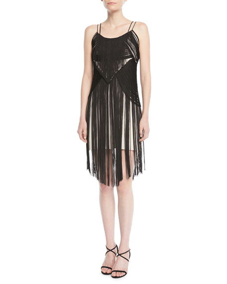 Lawless Spaghetti Strap Fringe Dress by Haute Hippie