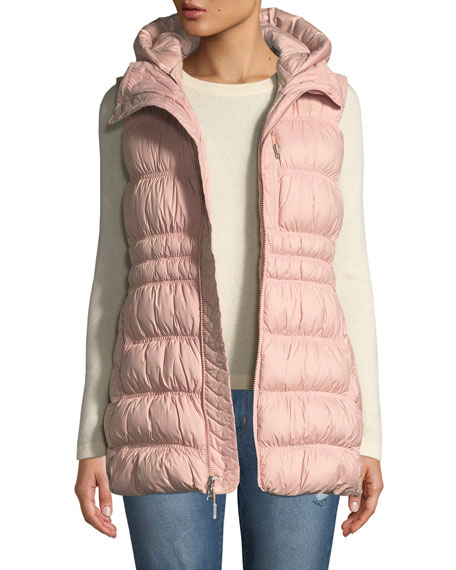 THE NORTH FACE Cryos Down Vest W/ Detachable Hood in Misty Rose