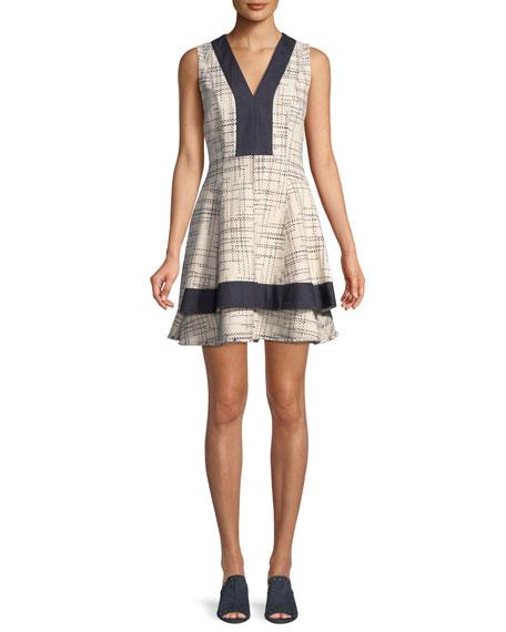 Derek Lam 10 Crosby Tiered V-Neck Mini Dress