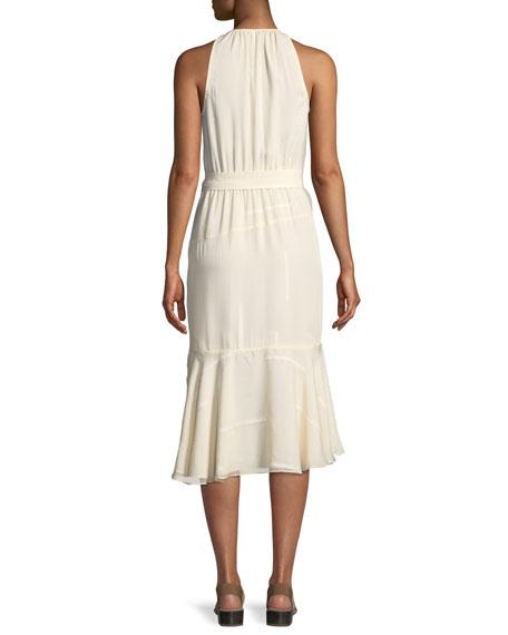 Asymmetric Silk Tank Dress