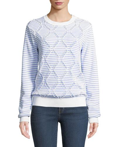 Striped Cotton Crewneck Pullover Sweater