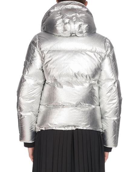 34bebf38 Kenzo Hooded Metallic Down Puffer Jacket