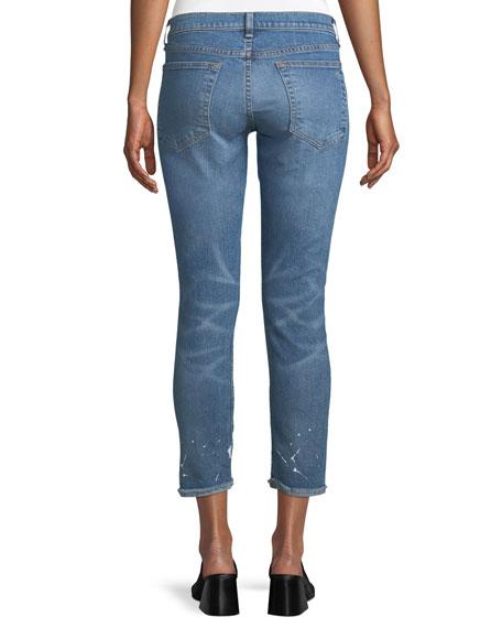 Dre Splattered Straight-Leg Ankle Jeans