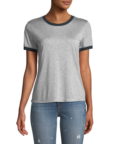 Brighton Metallic-Trim Ringer Tee