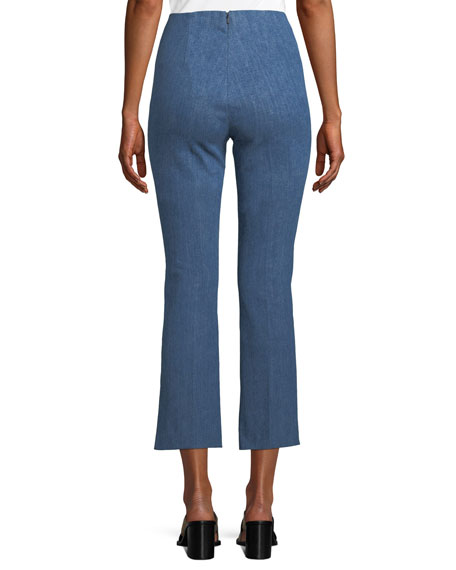 Hina Cropped Straight-Leg Pants