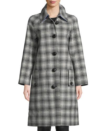 Walkden Plaid Wool Coat