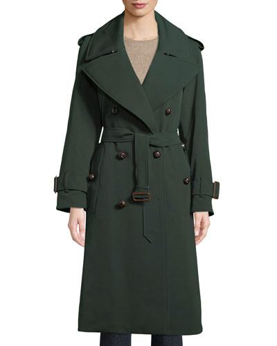 Wool Trench Coat w/ Crest Lining