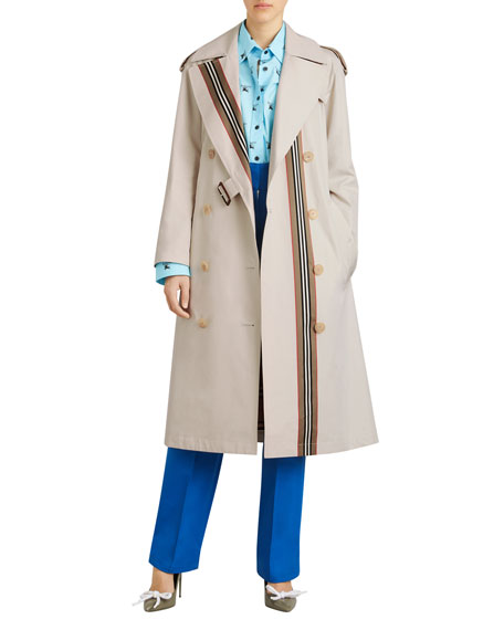 Bradfield Heritage Stripe Trench Coat