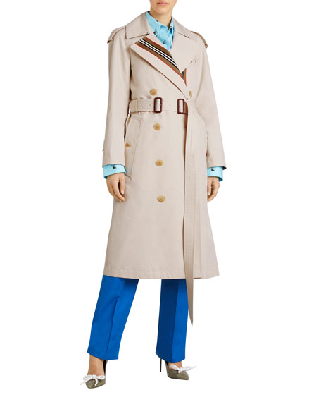 Burberry Bradfield Heritage Stripe Trench Coat