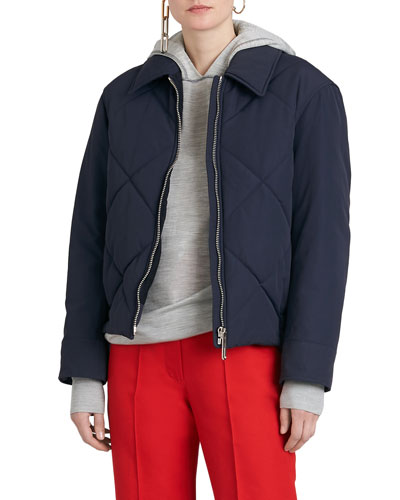 Quilted Technical Zip-Front Puffer Jacket