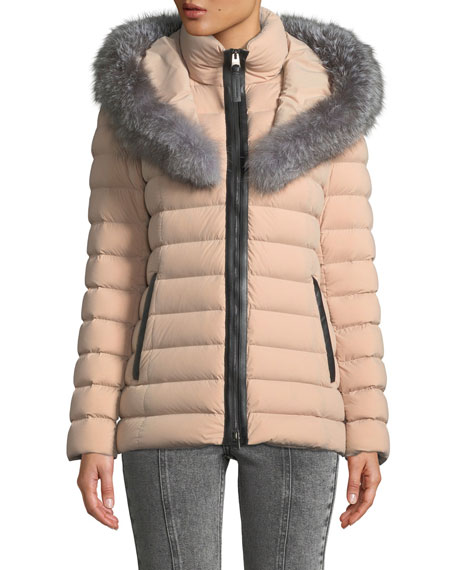 Mackage Kadalina Puffer Jacket with Fox Fur