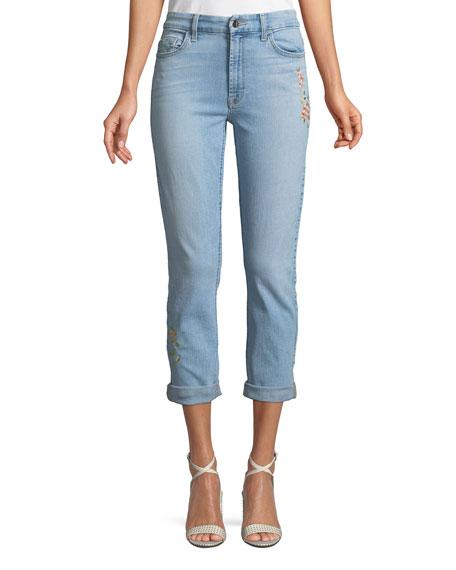 c942955339 Jen7 by 7 for All Mankind Slim Boyfriend Tropics Embroidery Jeans