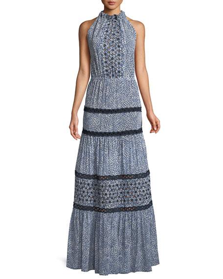 76a28daa932 Alexis Bel Printed Crochet Maxi Dress