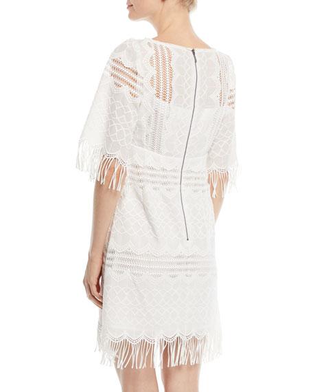 Sunset Sky Mini Dress w/ Fringe