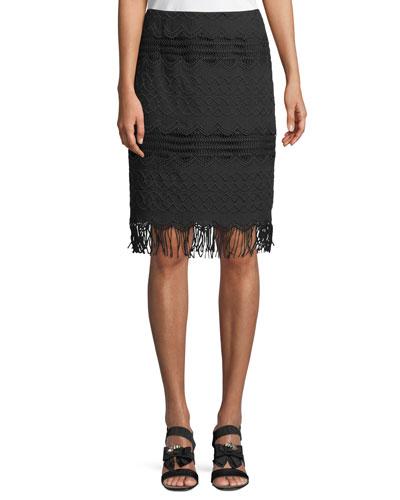 White Sands Fringe Skirt