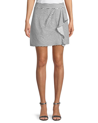 Rendezvous Striped Skort w/ Ruffle