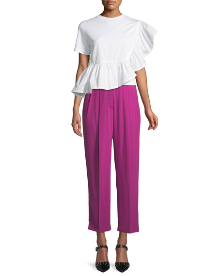 Pleated High-Rise Trousers
