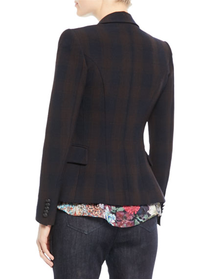 Jezebel Double-Breasted Plaid Jacket