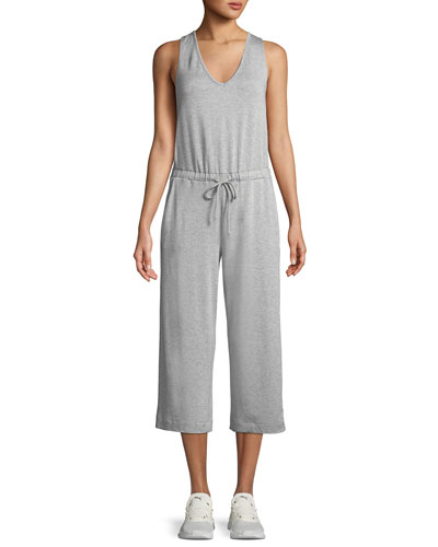 Farrah Scoop-Neck Sleeveless Wide-Leg Cropped Jumpsuit