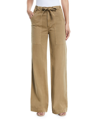 Carver Belted Wide-Leg Pants