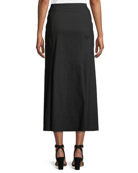 Amelie Button-Front Midi Skirt