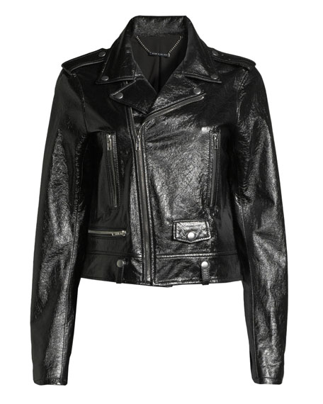 Elie Tahari Jacalyn Textured Leather Jacket