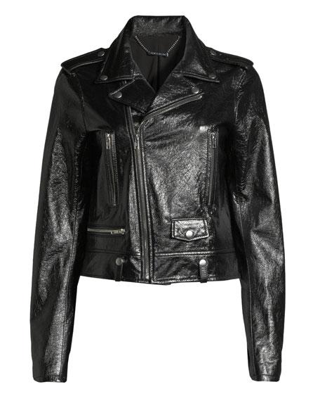 Elie Tahari Jacalyn Textured Leather Jacket