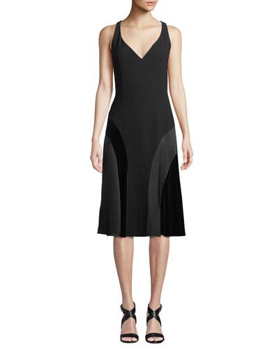 Zaria V-Neck A-Line Dress