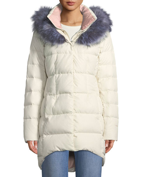 The North Face Hey Mama Parka Puffer Coat w  Removable Faux-Fur Trim dca891411385