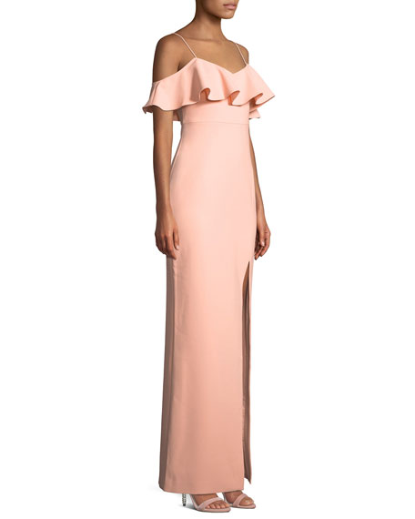 Shania Off-the-Shoulder Ruffle Gown