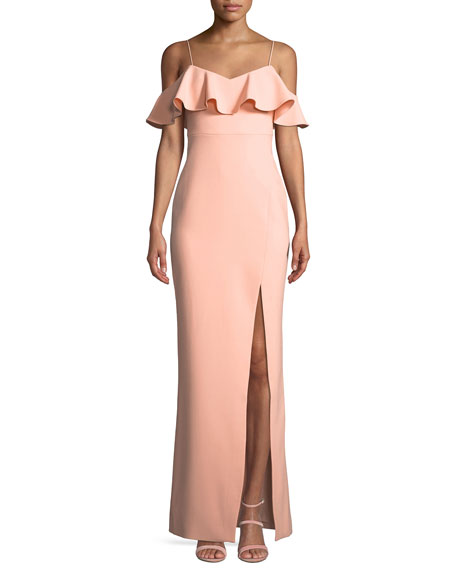 Likely Shania Off-the-Shoulder Ruffle Gown