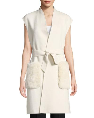 Deanna Fur-Pocket Vest