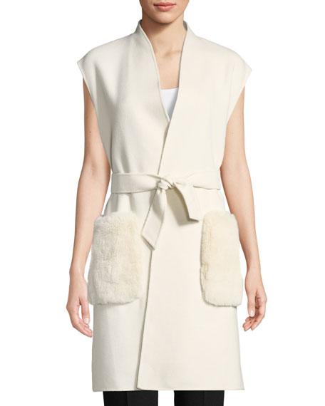 Elie Tahari Deanna Fur-Pocket Vest 334018da1