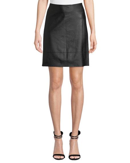 Elie Tahari Lexie Leather Pencil Skirt