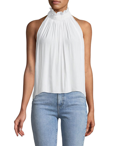 Selene High-Neck Sleeveless Top