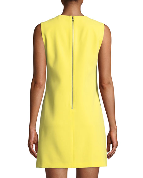 7f9736360545c3 Alice + Olivia Coley Crewneck Sleeveless A-Line Mini Dress