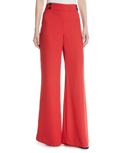 Taren High-Waist Wide-Leg Trousers
